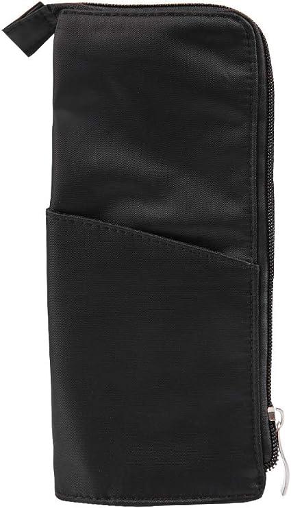 BOQUITE Estuche para pinceles de maquillaje, bolsa de cosméticos portátil con negro para la herramienta de organizador del dispositivo de almacenamiento de viaje: Amazon.es: Belleza