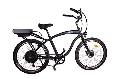 Electric Beach Cruiser 2.0 Bike by Wave | Lightweight Rear 6 Speed Shimano, 48V 750W Lithium Ion Battery and Charger Included