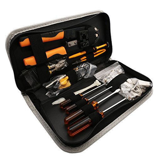Syba 39 Piece Computer Network Installation Tool Kit Retail, Grey (SY-ACC65075)