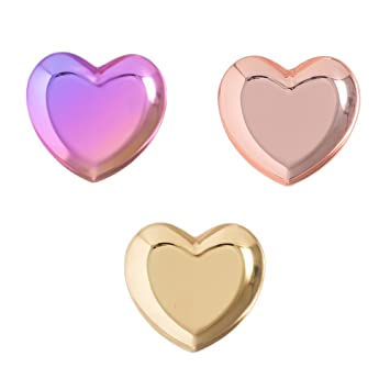 Amazoncom CHOOLD Chic Stainless Steel Heart Shape Ring Dish Ring