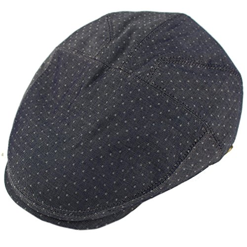 Epoch Men's 100% Cotton 7 Panel Ivy Mixed Pattern Driver Cabby Flat Cap Hat L/XL