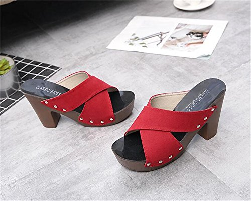 Girls Wedge Handmade Flip Sandals Womens Red Flops Flowers Thong SUNNY Ladies Sandals Store Slippers Platform 0FnqEB