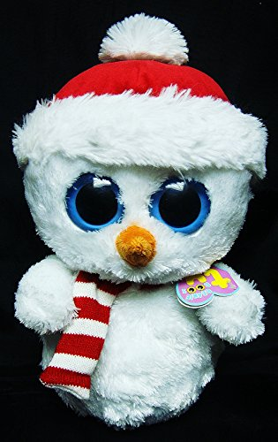 Ty SCOOPS the Holiday SNOWMAN Beanie Boo 9.5