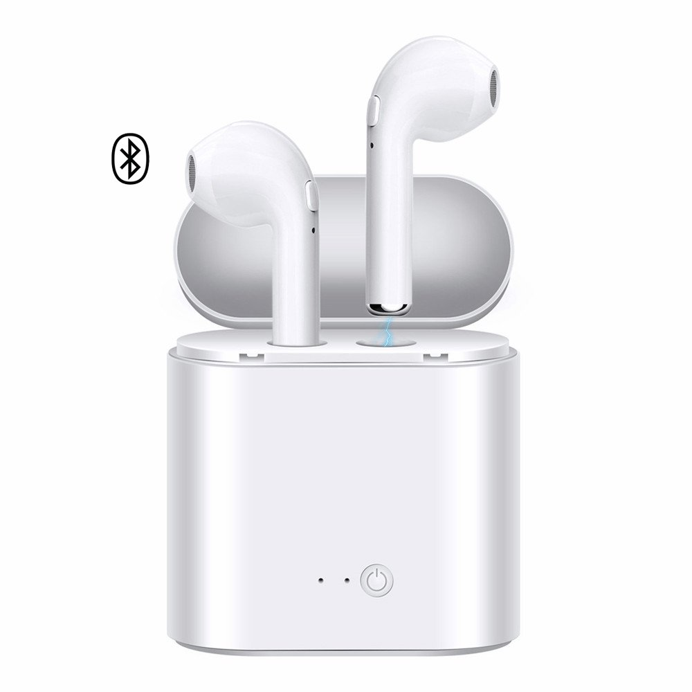 RASCJ Bluetooth Headphones Compatible with iPhone and Samsung and Android Phones - White