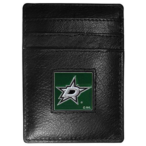 NHL Dallas Stars Genuine Leather Money Clip/Cardholder Wallet ()