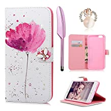 iPhone 6S Plus / 6 Plus Case-MOLLYCOOCLE®Stand Wallet Premium PU Leather Bling Diamond Butterfly Magnetic Hand Wrist Strap TPU Bumper Skin Cover for iPhone 6S Plus/6 Plus & Dust Plug & Stylus Pen