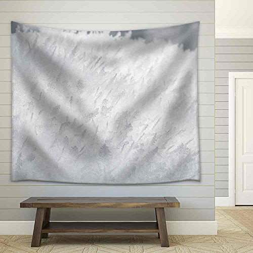 Closeup frost textured closeup background Fabric Wall Tapestry