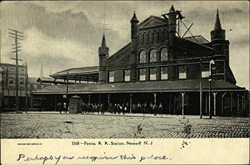Penna R.R. Station Newark, New Jersey Original Vintage Postcard
