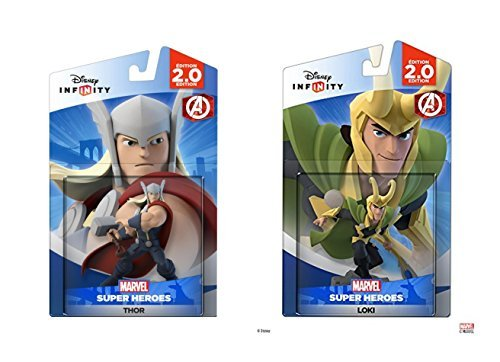 Disney Infinity Thor and Loki Marvel Avengers Super Heroes 2.0 Bundle - Not Machine Specific (Disney Infinity 2 Loki)