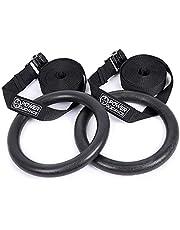 POWER GUIDANCE Gymnastiekringen Gymring met banden - Olympische gymnastiekringen voor kracht- en lichaamsgewichttraining van het bovenlichaam, gymnastiektraining - maximale belasting: 270 kg