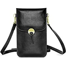 Cell Phone Bag, MoKo Universal Multi-pocket Crossbody Pouch with Shoulder Strap for iPhone X / 8 Plus / 8 / 7 Plus / 6s / 6 / 5s / 5c, Samsung Galaxy Note 8 / S9 / S9 Plus / S8 / S7 Edge - Black