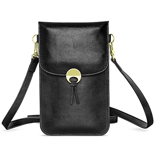 MoKo Cell Phone Bag Universal MultiPocket Crossbody Pouch with Shoulder Strap Fit with iPhone Xs Max/XR/Xs/X Samsung Galaxy S10e/S10/S10 Plus/Note 9/S9 Plus/S9 Google Pixel 3/Pixel 3 XL  Black