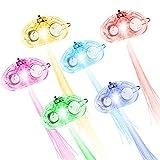 Image of Kohree LED Fiber Hair Light Up Hair Barrettes, Multicolor Flash Barrettes Clip Braid - Party Favor(15 Set)