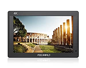 Feelworld 7 Inch IPS Full HD 1920x1200 Field Monitor Supports 4K UHD HDMI Input/Output 1200:1 High Contrast 450cd/m2 High Brightness for Canon Nikon DSLR Camera with MicroFiber Cloth
