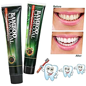 Activated Charcoal Teeth Whitening Toothpaste 3d white,natural organic bamboo charcoal,Destroys Bad Breath Removes Smoke Stains and Coffee Stains120g