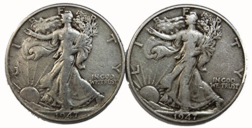 1947 P&D Walking Liberty Half Dollar Set 50c Very ()