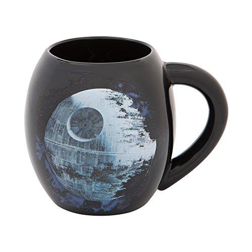 - Vandor Star Wars Death Star 18-Ounce Ceramic Oval Mug (99563)