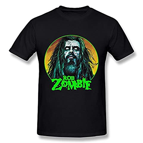 Men's Rob Zombie White Zombie O-neck T-shirt Size XS Black (Educated Horses Vinyl)