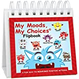 My Moods, My Choices Flipbook for Kids; 20 Different Moods/Emotions; Help Kids Identify Feelings and Make Positive Choices; Laminated Pages (Monster Flipbook)