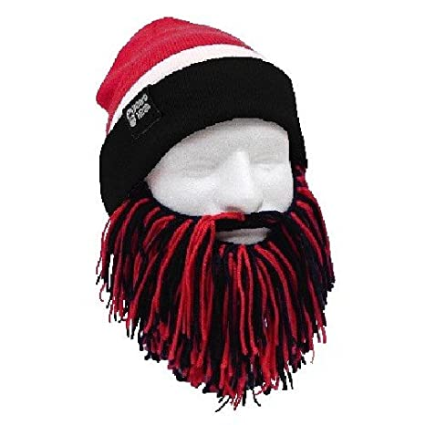 a3a3b841 Image Unavailable. Image not available for. Color: Beard Head Tailgate  Atlanta Knit Beanie Beard Hat ...