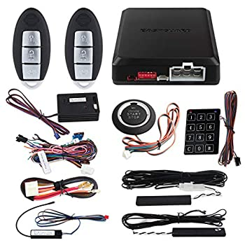 Image of Alarm Systems EASYGUARD EC002-NI-NS FSK Technology Rolling Code Smart Key pke car Security Alarm System with Passive keyless Entry auto Start Stop keyless go & Touch Password Entry Backup
