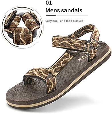 131add065861a NORTIV 8 Men's 181114M Brown Beige Outdoor Walking Sandals Summer ...