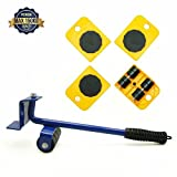 shrimp Furniture movers lifter Lift System with Moves Furniture Lifter and 4 Furniture Moving Rollers for Heavy Furniture & Appliance Lifting -Yellow
