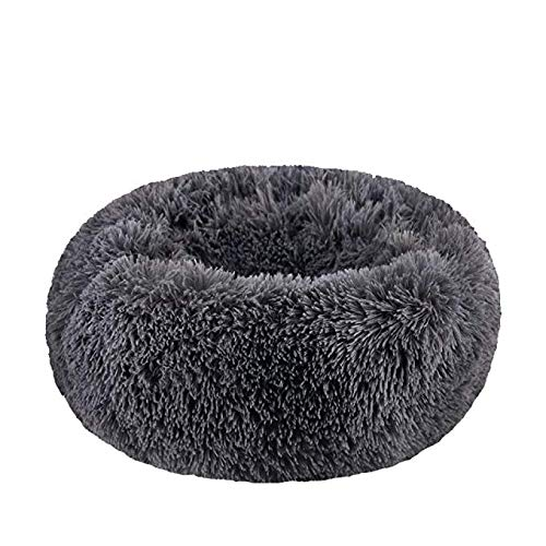 - Pet Bed for Cats Or Small Dogs, Modern Soft Plush Round,Mini Medium Sized Dog Cat Bed Self Warming Autumn Winter Indoor Snooze Sleeping Cozy,6020CM
