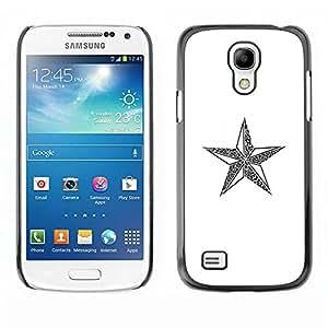 Paccase / SLIM PC / Aliminium Casa Carcasa Funda Case Cover para - star communism Russia Christmas white - Samsung Galaxy S4 Mini i9190 MINI VERSION!