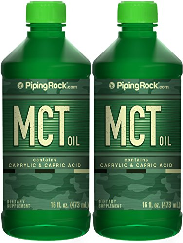 Price comparison product image Piping Rock MCT Oil Medium Chain Triglycerides 2 Bottles x 16 fl oz. (473 mL) Bottle with Caprylic & Capric Acid Dietary Supplement