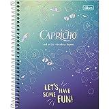 Caderno Espiral Capa Dura Colegial 10 Matérias Capricho, Tilibra, 2019, Sem Cor, pacote de 4