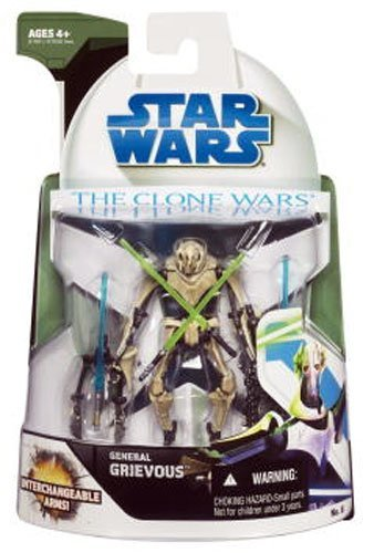 [Star Wars The Clone Wars General Grievous Action Figure] (Star Wars General Grievous)