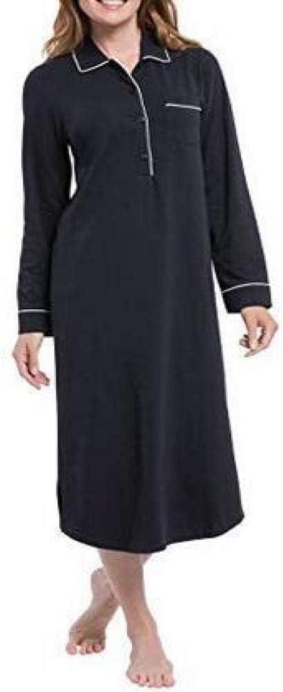 Camisón de Manga Corta, Cuello de Camisa, Falda Larga, ingresos ...