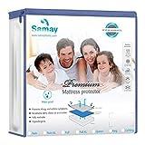 SAMAY Waterproof Mattress Cover Premium Hypoallergenic Mattress Protector, Queen Size