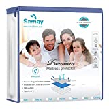 Waterproof Mattress Protector - Samay Waterproof Mattress Cover Premium Hypoallergenic Mattress Protector, Queen Size