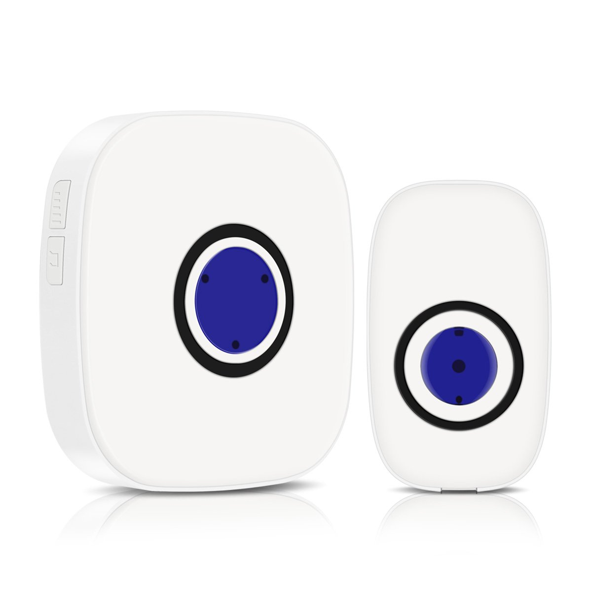 CoastaCloud Model C Wireless Doorbell Chime Alert System, Long Range over 400-feet Range with 38 Chimes, No Batteries Required for Receiver, with Sound and LED Flash Door Bell for Home
