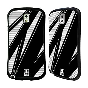 Head Case Designs Midnight Raystripes Hybrid Gel Back Case for Samsung Galaxy Note 3 N9000 N9002 N9005
