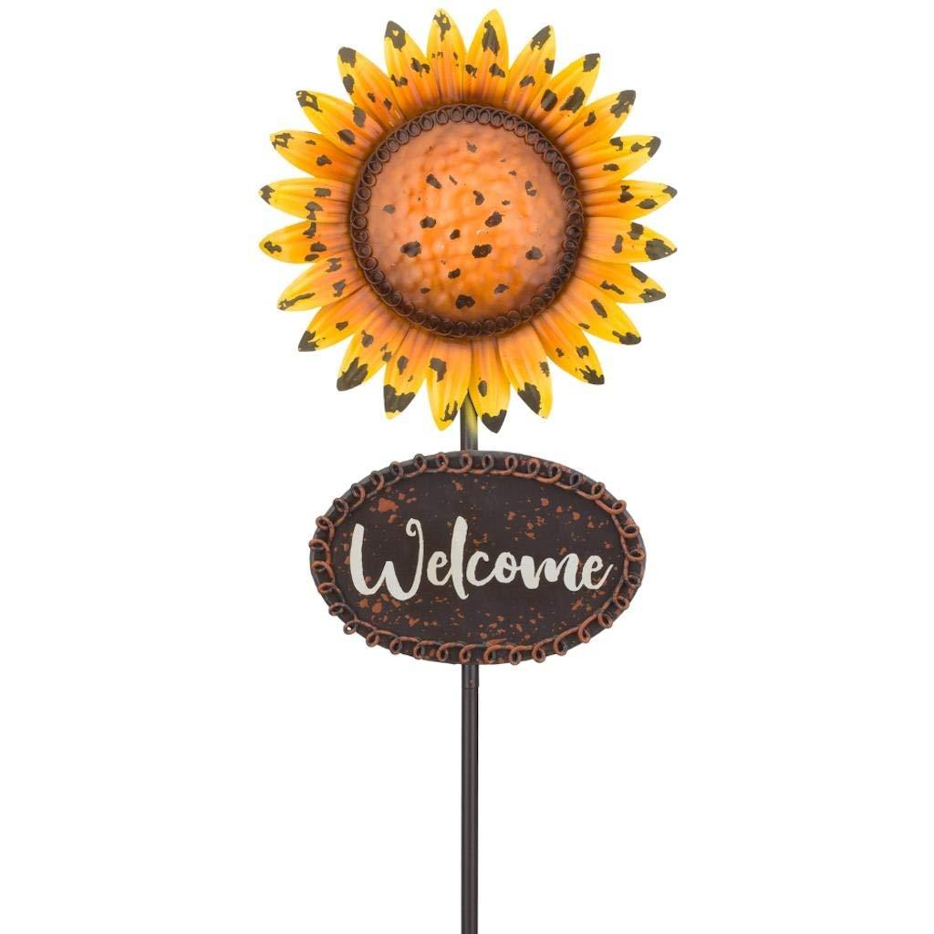 Multi Regal Art /& Gift 11984 Harvest Sunflower Garden Stake
