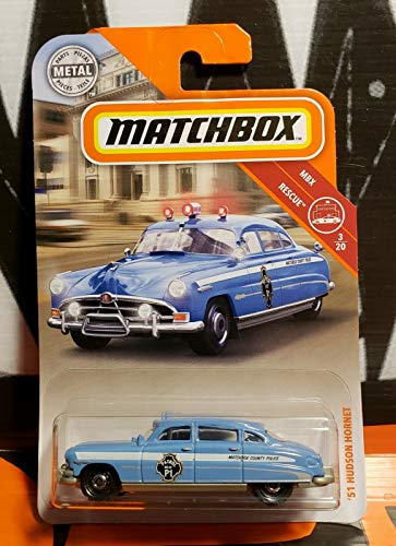 Matchbox 2019 MBX Rescue '51 Hudson Hornet 57/100, Blue-Gray