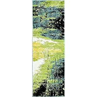 Unique Loom Lyon Collection Light Green 2 x 6 Runner Area Rug (2 x 6)