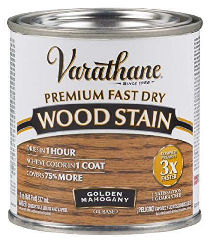 Floor Varathane Premium (Varathane 262033 Premium Fast Dry Wood Stain, 1/2 Pint, Golden Mahogany)