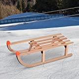 HomCom Folding Vintage Natural Wood Snow Sled Racer