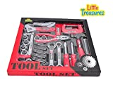 Little Treasures 25+ Piece Tool Set toy is a great beginners kit for introducing tools to a young tool user in your family - Pretend play & Role play educational tool toys