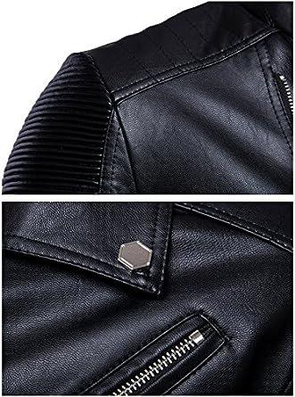 Speedle Mens Faux Leather Jacket Vintage Stand Collar Lapel PU Bomber Moto Biker Jacket