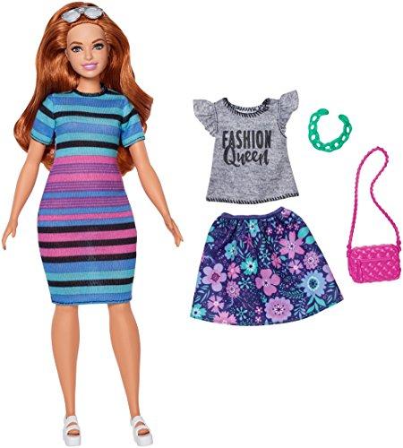 Barbie Fashionistas #84 Rainbow Rave Doll, Curvy