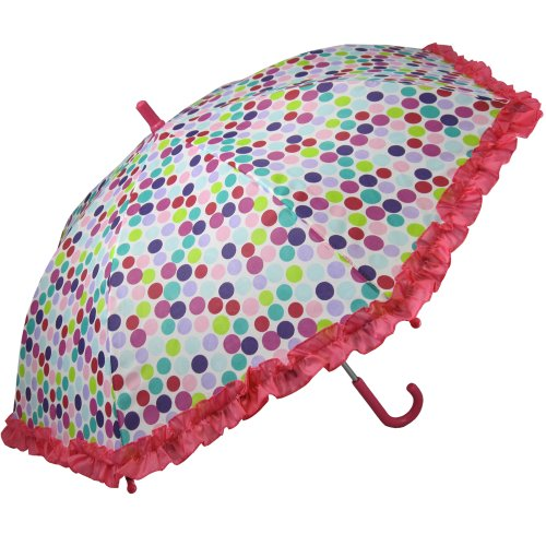 RainStoppers Girl's Bright Dots Print Umbrella, 34-Inch ()