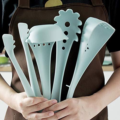 Nesee Pack of 4 Nylon Kitchen Utensil Set Heat Resistant Nylon Raised Up Kitchen Cooking Utensils Set