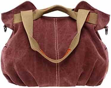 88a6880b8f Women Casual Vintage Hobo Canvas Daily Top Handle Shoulder Bag Tote Shopper Handbag  Best Sale-