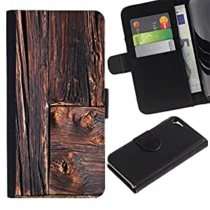 For Apple iPhone 5 / iPhone 5S,S-type® Rustic Lines Architecture Carpenter - Dibujo PU billetera de cuero Funda Case Caso de la piel de la bolsa protectora