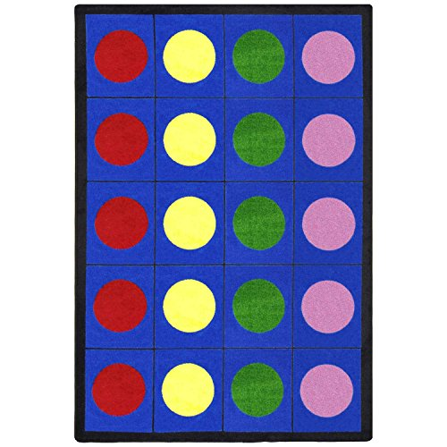 "Joy Carpets Kid Essentials Early Childhood Lots of Dots Rug, Multicolored, 5'4"" x 7'8"" from Joy Carpets"
